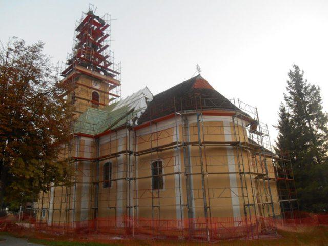 Radovi na crkvi 2016.