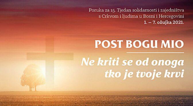 Tjedan solidarnosti s vjernicima u BiH 2021.